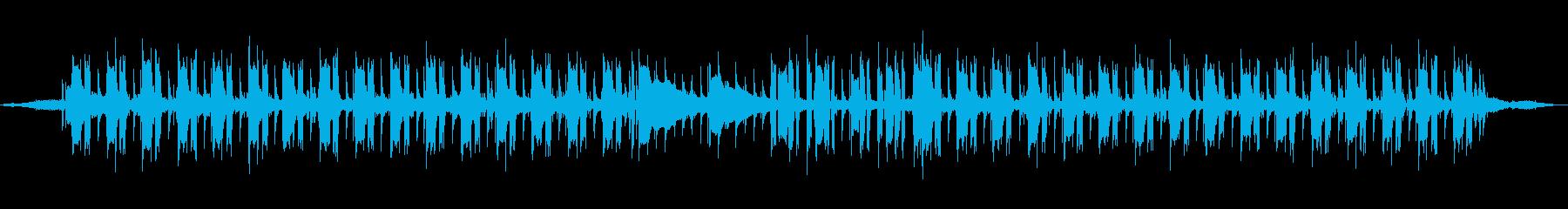 波の音とジャズバンドの再生済みの波形