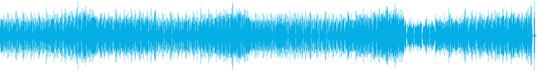 かわいいポップあかるいゲーム曲の再生済みの波形