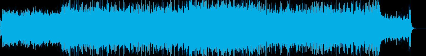 爽やかでのどかなアコギ曲の再生済みの波形