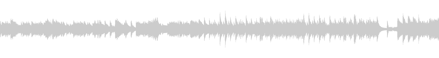 反芻するような豊かな旋律がメインのピアノの未再生の波形