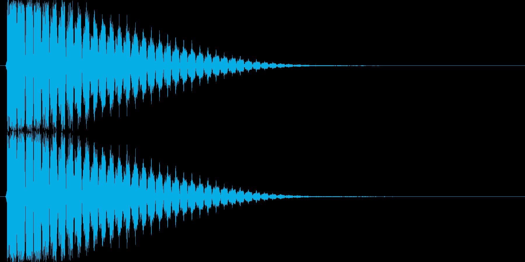ピィーン(レーザー音、シューティング)の再生済みの波形