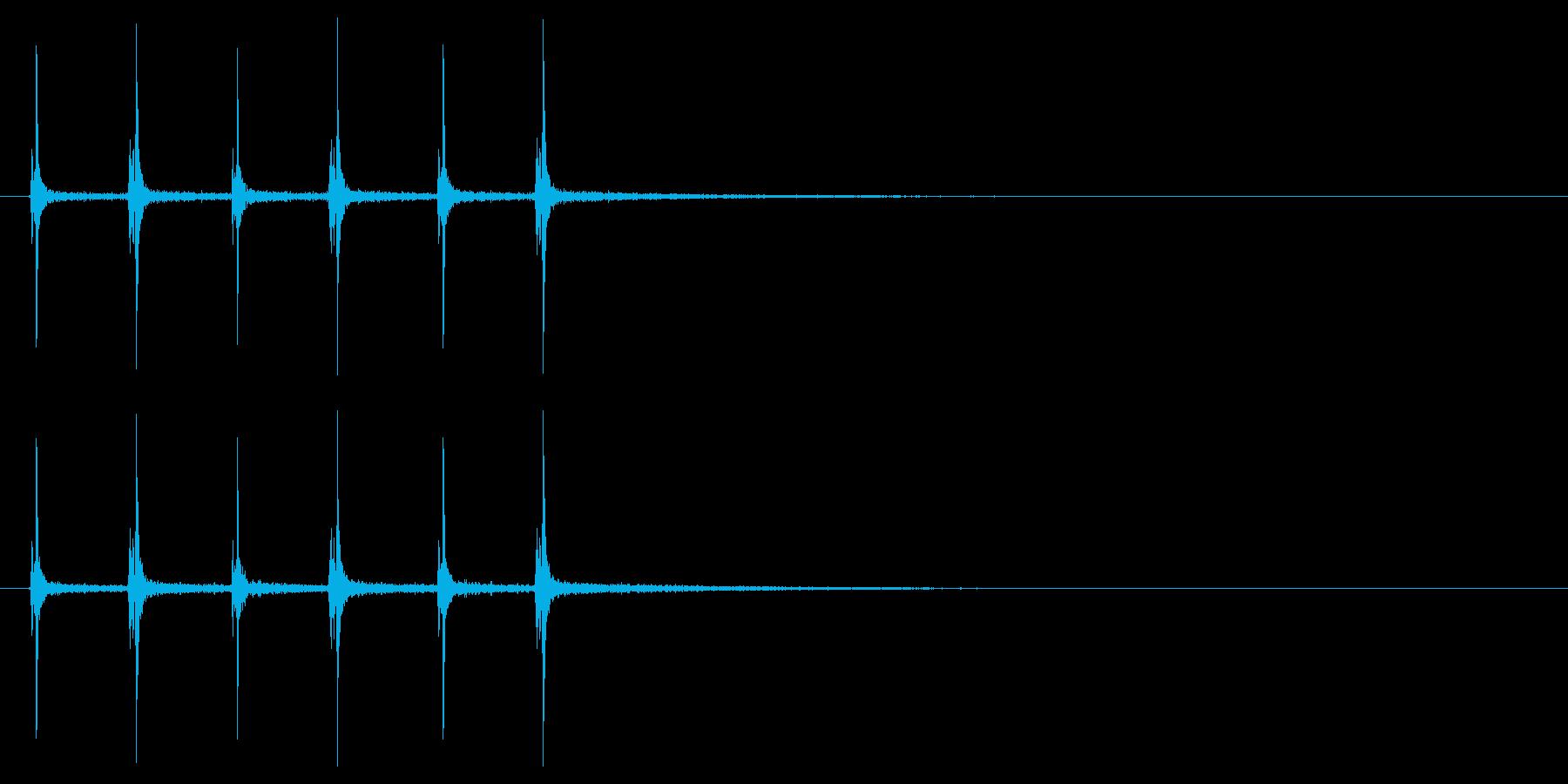 【ハサミ01-6】の再生済みの波形