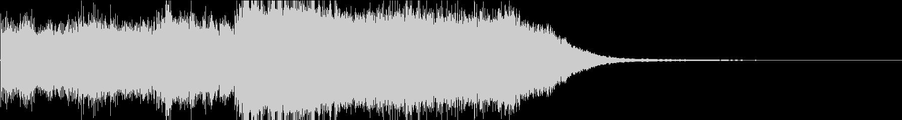 PCやゲーム機の起動音をイメージの未再生の波形