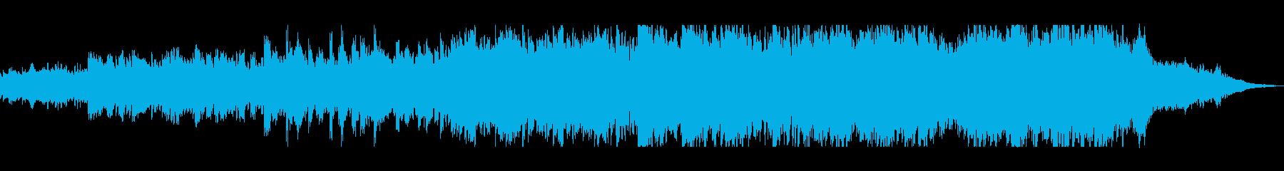 電子音とオーケストラのヒーリングの再生済みの波形