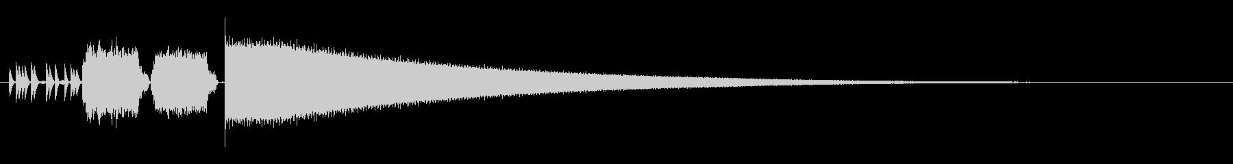8bitレジ音の未再生の波形