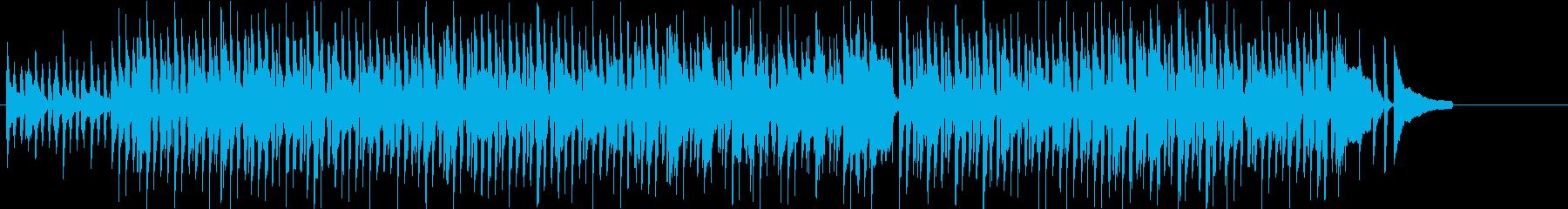 ピアノとトランペットのポップなBGMの再生済みの波形