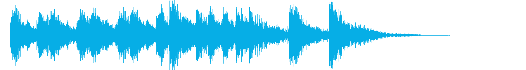 ファニーで明るいオーケストラロゴ♪の再生済みの波形