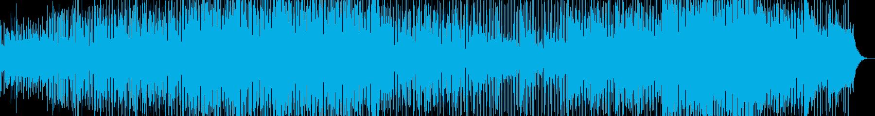 不安と押し寄せる緊張感が感じられるBGMの再生済みの波形