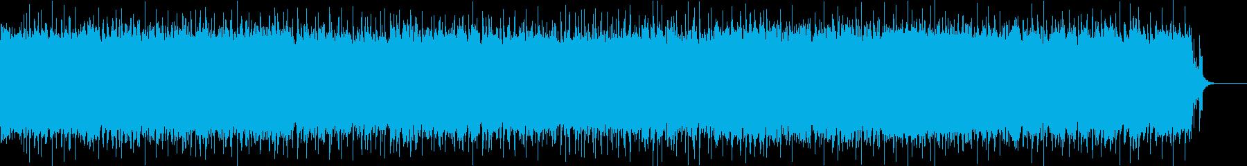 クラシックロック風で軽快なロックの再生済みの波形