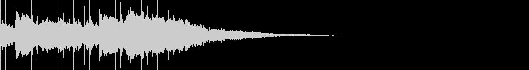 透明感のあるサウンドロゴ、ジングルの未再生の波形