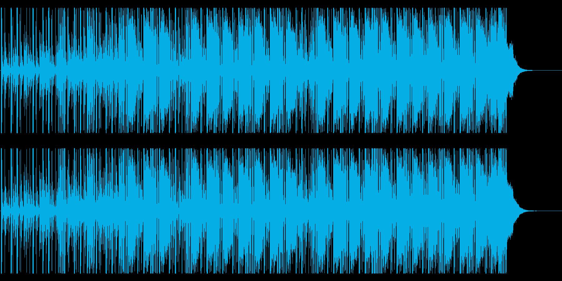 迫りくる恐怖/ビート主体の不気味なBGMの再生済みの波形