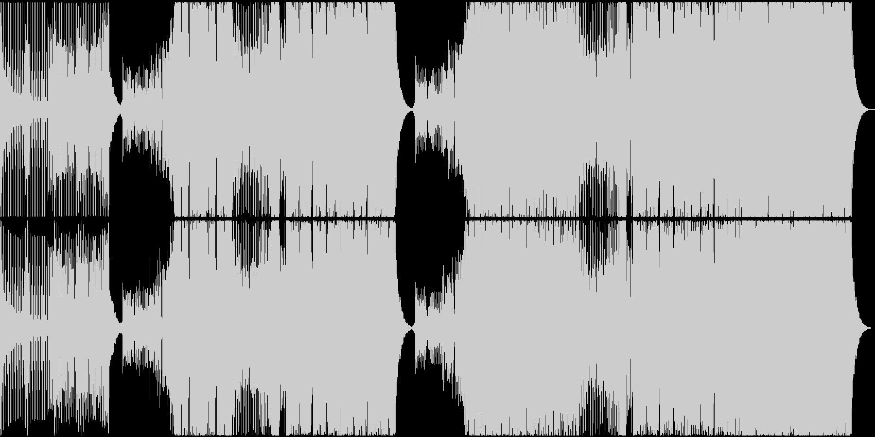 激しいEDMの未再生の波形