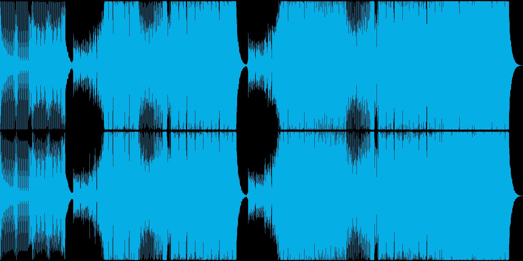 激しいEDMの再生済みの波形