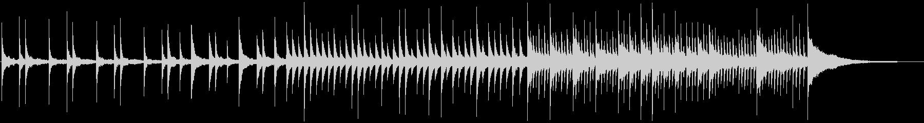 切なく悲しげなソロピアノ・ゆっくりの未再生の波形