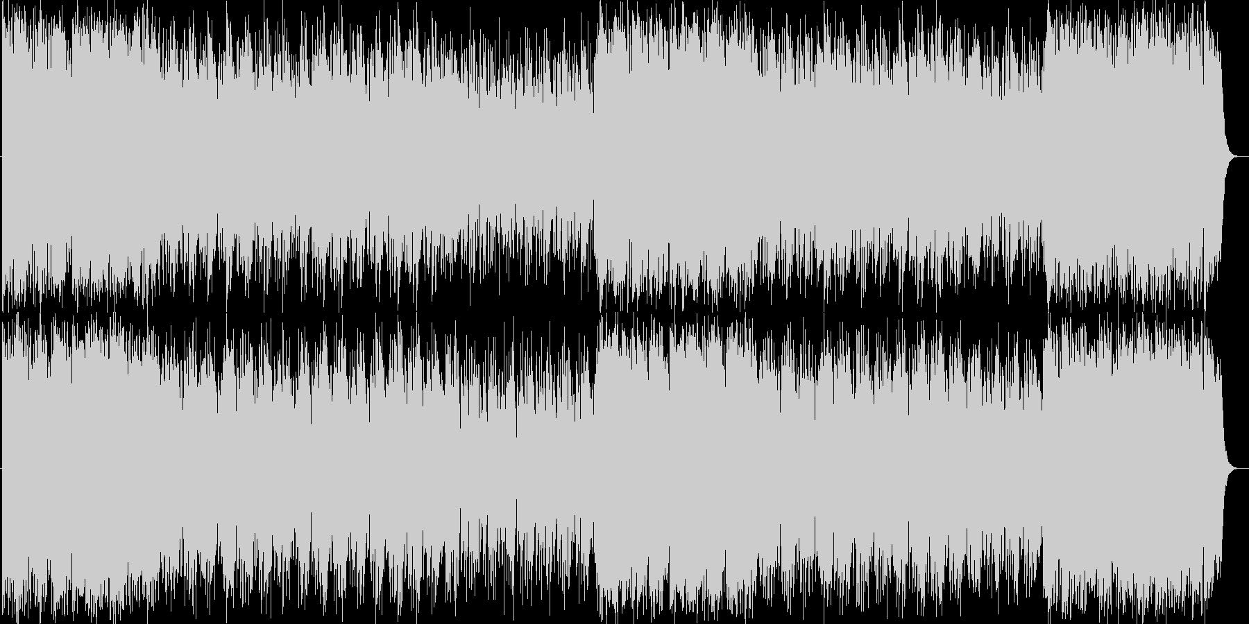 明るく楽しいシンセサイザーサウンドの未再生の波形