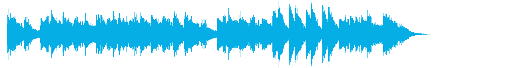 お正月・春の海モチーフのピアノジングルGの再生済みの波形