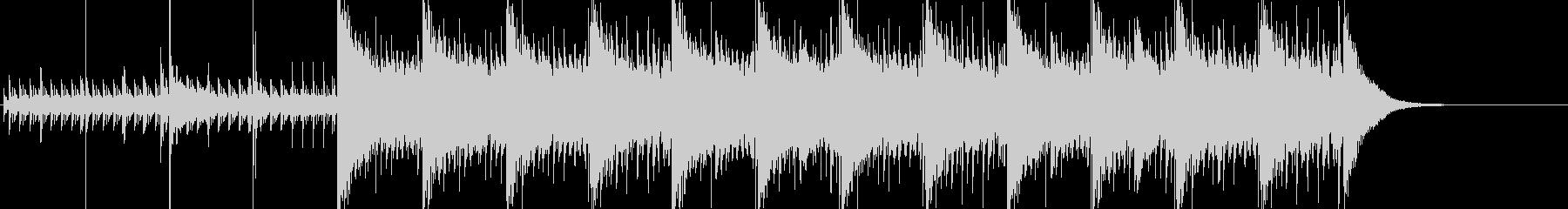 60秒・緊張感・クール・高速ジャズの未再生の波形