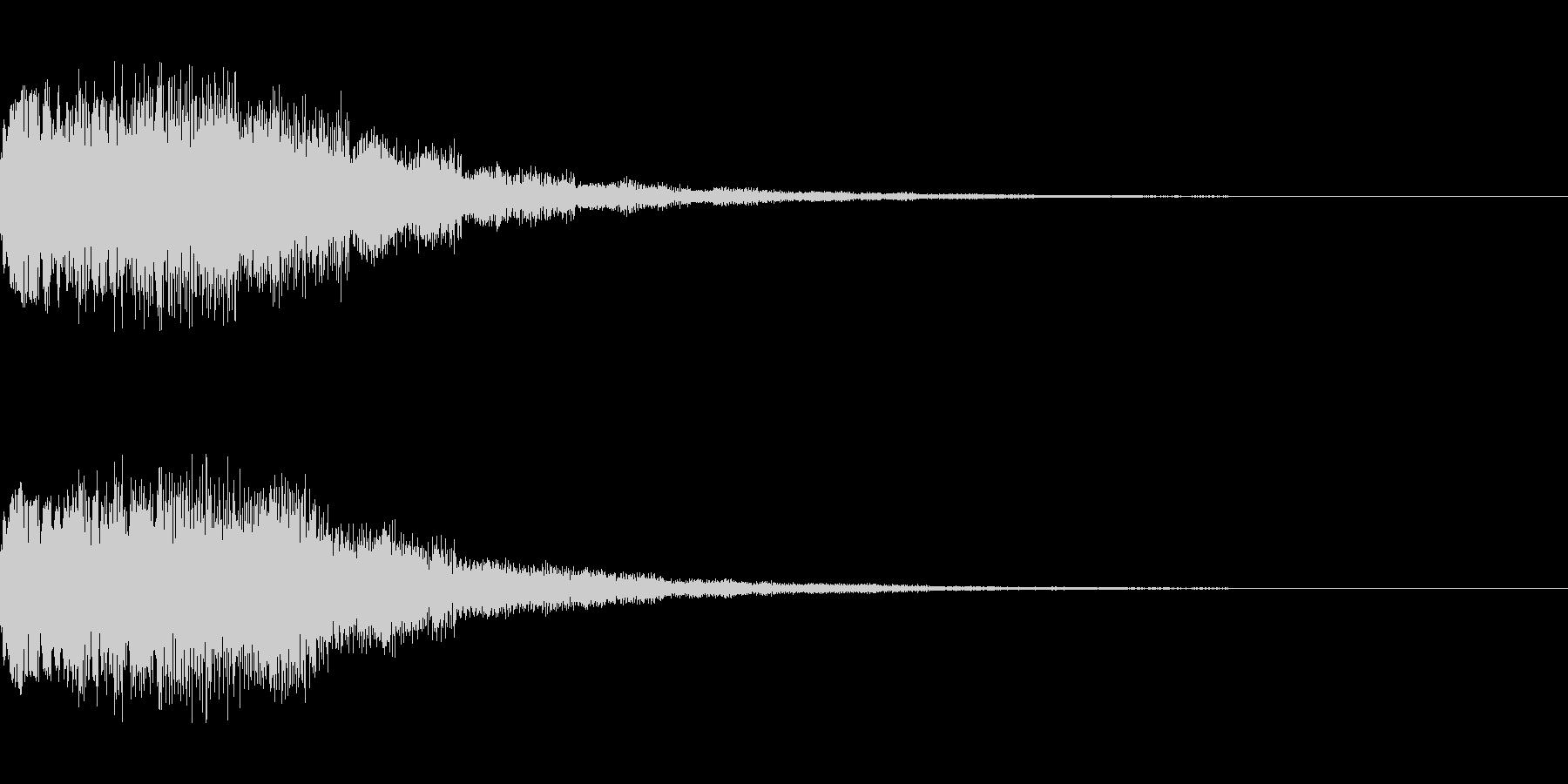 シーン切り替え シンセサイザー4の未再生の波形