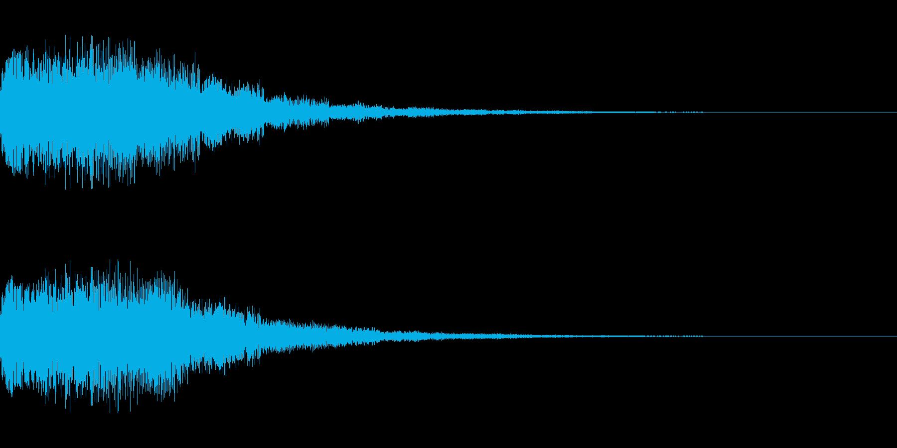 シーン切り替え シンセサイザー4の再生済みの波形