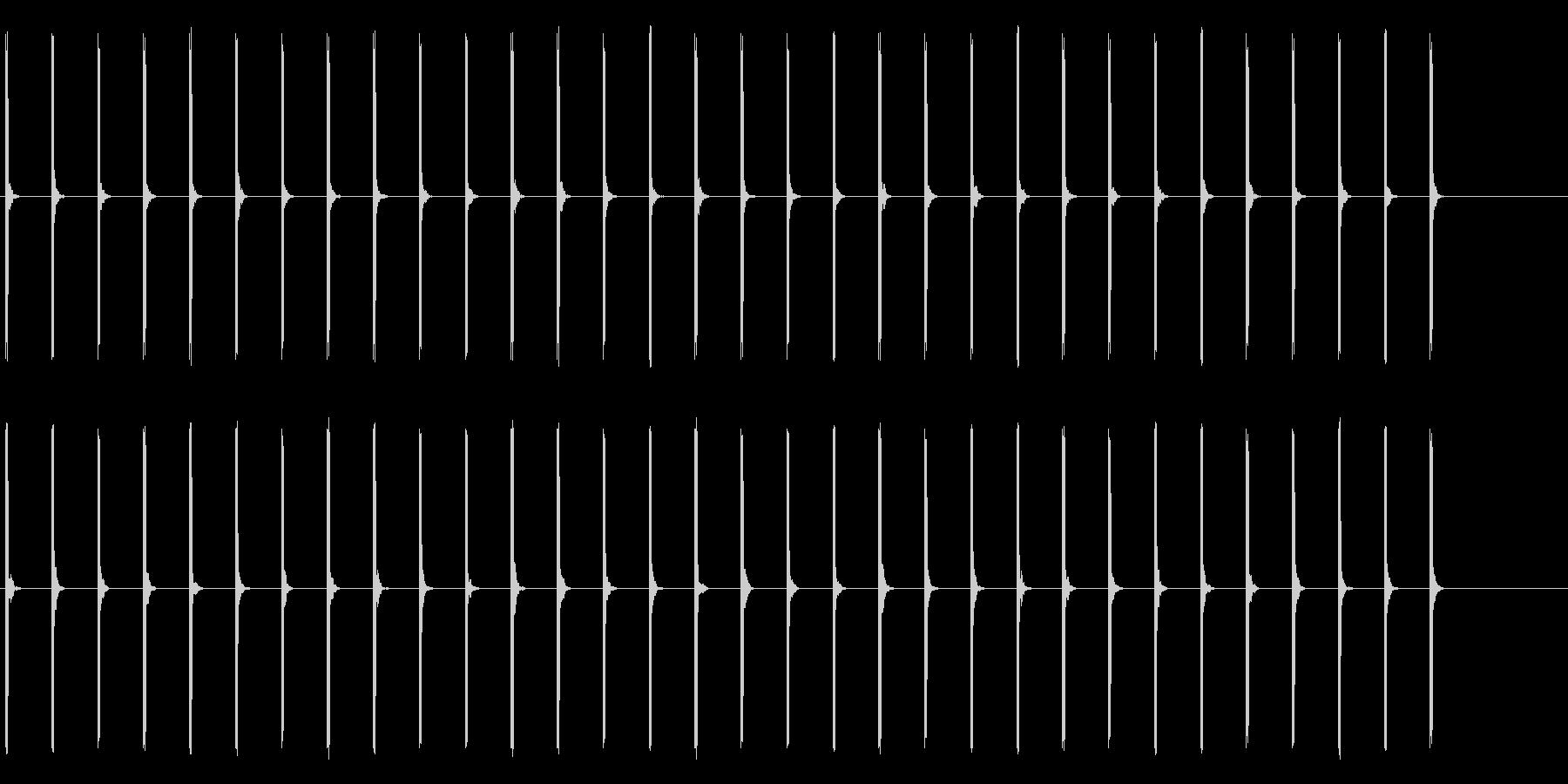 心電図の音-5-1(BPM40)の未再生の波形