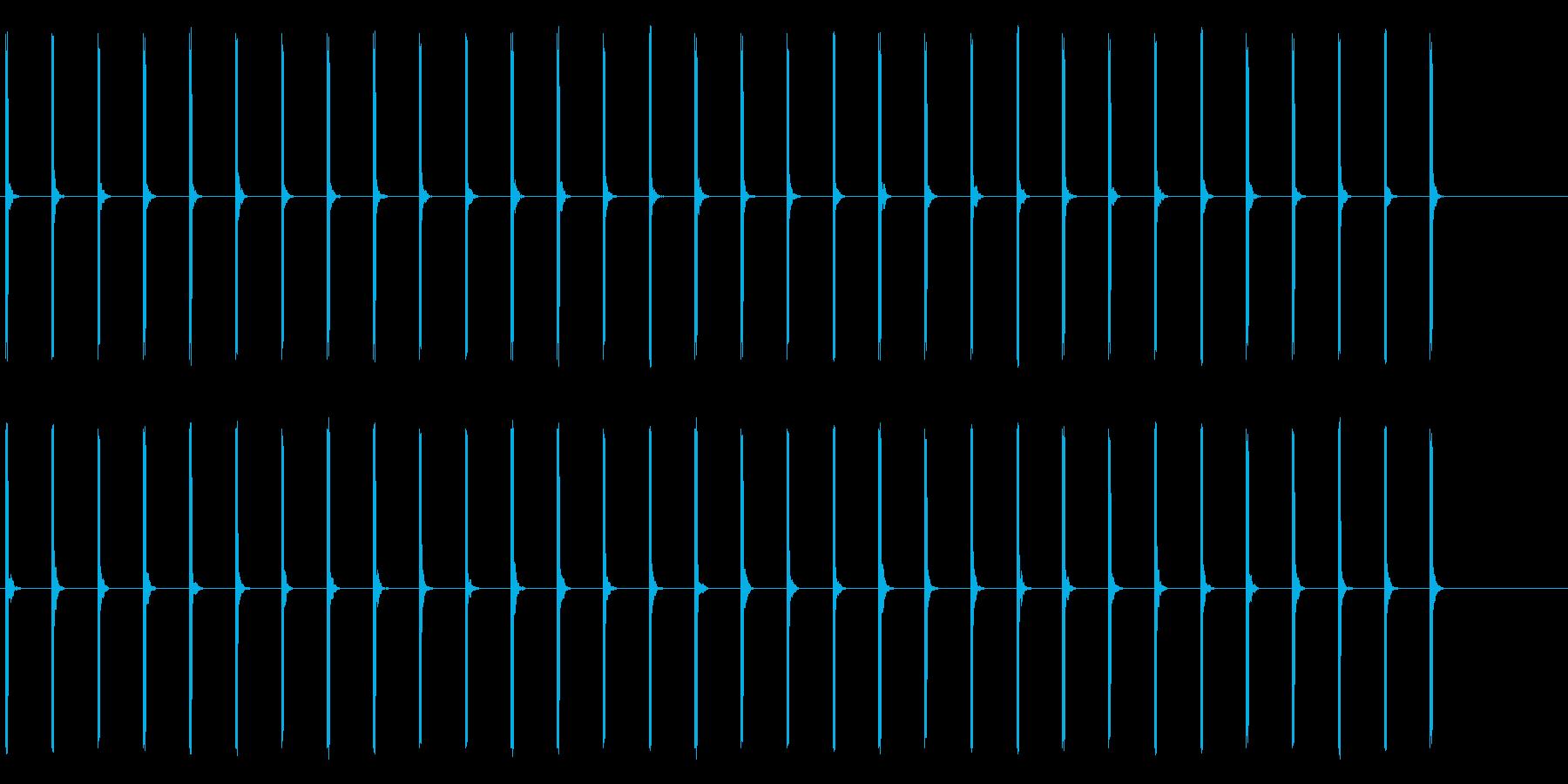 心電図の音-5-1(BPM40)の再生済みの波形