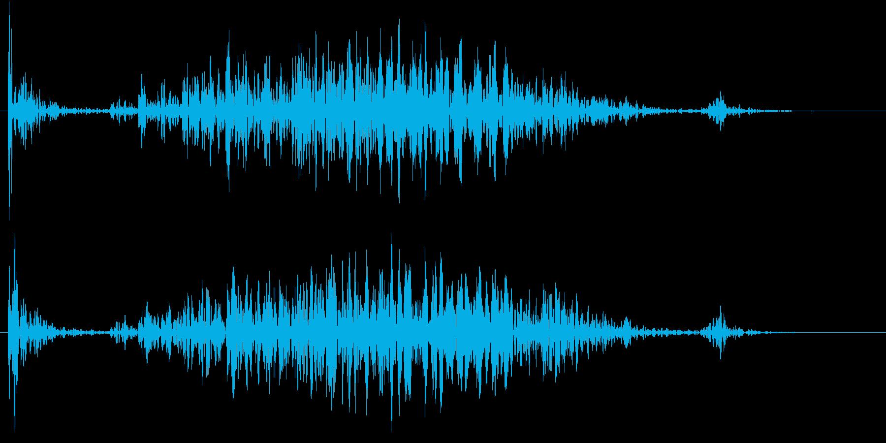 【生録音】テーブルを引っ掻く音 2の再生済みの波形