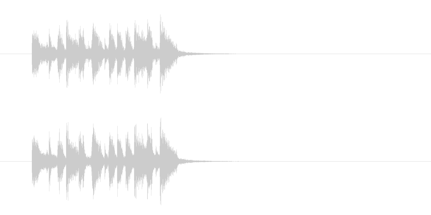 ジングル(フュージョン)の未再生の波形
