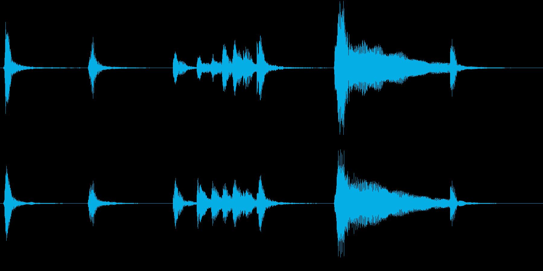 トムとジェリー風なアニメ音楽「忍び足」1の再生済みの波形