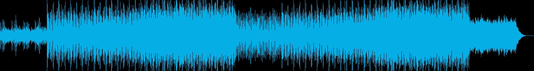 未来的なエレクトロニカ風BGMの再生済みの波形