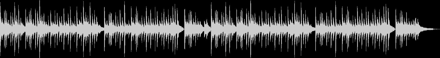 ピアノソロの寂しいワルツの未再生の波形