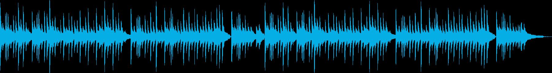 ピアノソロの寂しいワルツの再生済みの波形