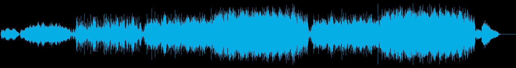 オーケストレーションの壮大なバラードの再生済みの波形
