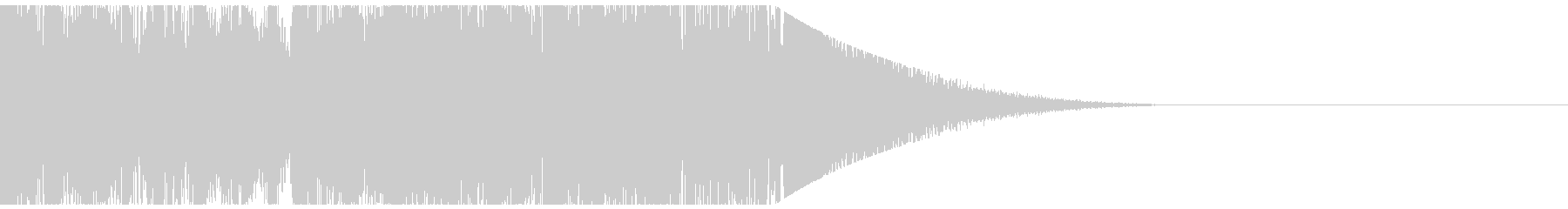 綺麗なピアノのファンファーレの未再生の波形