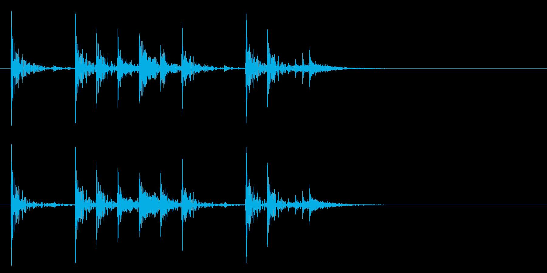 定番のリズム ドッチドド カラカカン#1の再生済みの波形