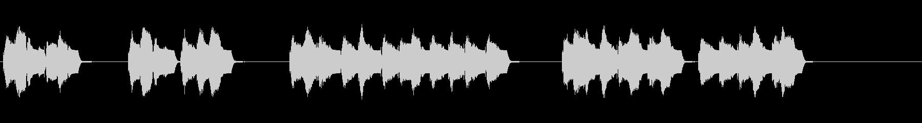 電子コンソールのボタン:エントリの...の未再生の波形