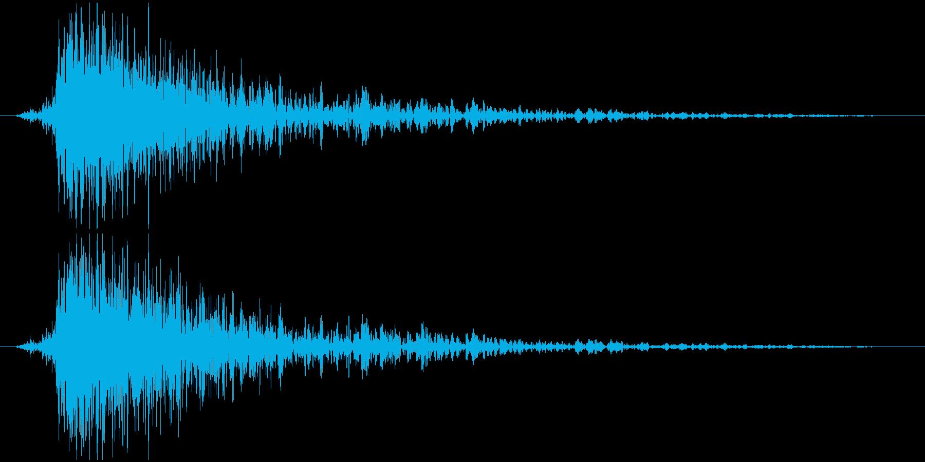 【自然】雷ドカーンの再生済みの波形