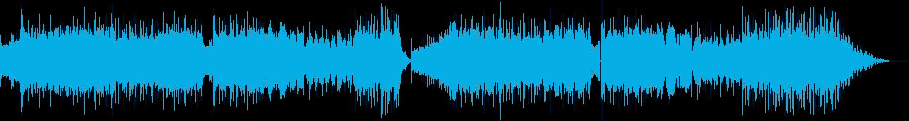 ロックとテクノをMIXした疾走感ある曲の再生済みの波形