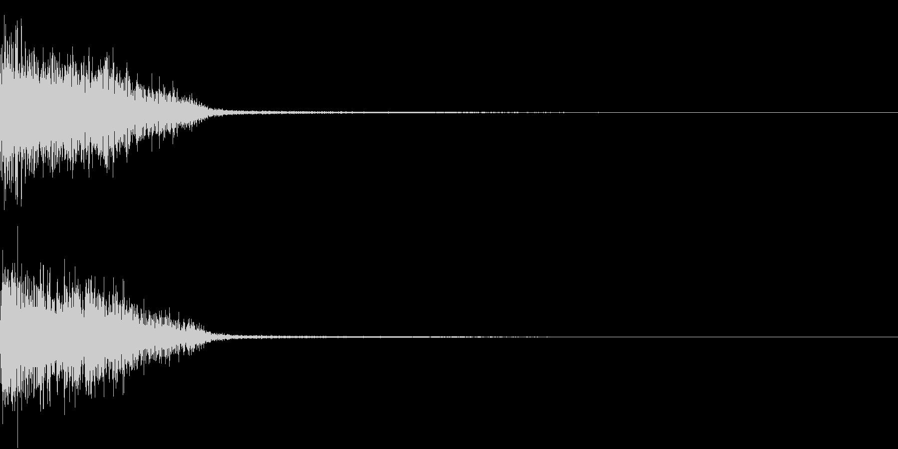 InvaderBuzz 発砲音 11の未再生の波形