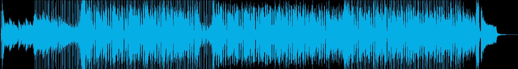 ポップ要素を多く含んだBGMの再生済みの波形