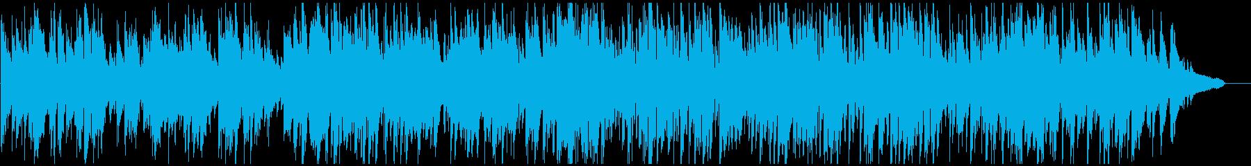 日常系の明るいジャズ、スイング、サックスの再生済みの波形