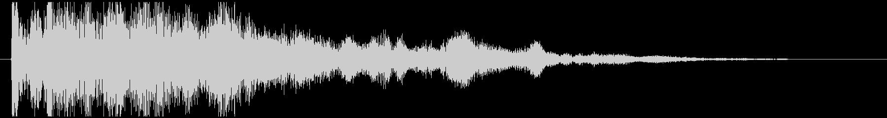 神秘的で透明感のあるアクセント音6の未再生の波形
