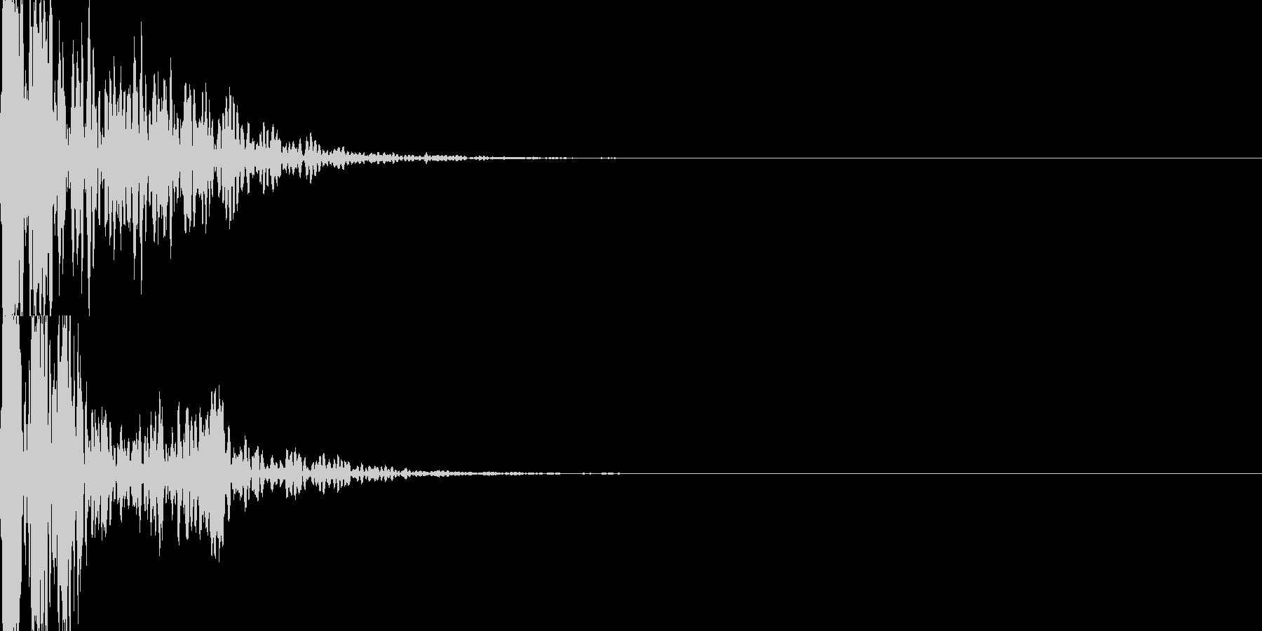 インパクト抜群のポコッツ!!スタンプ音の未再生の波形