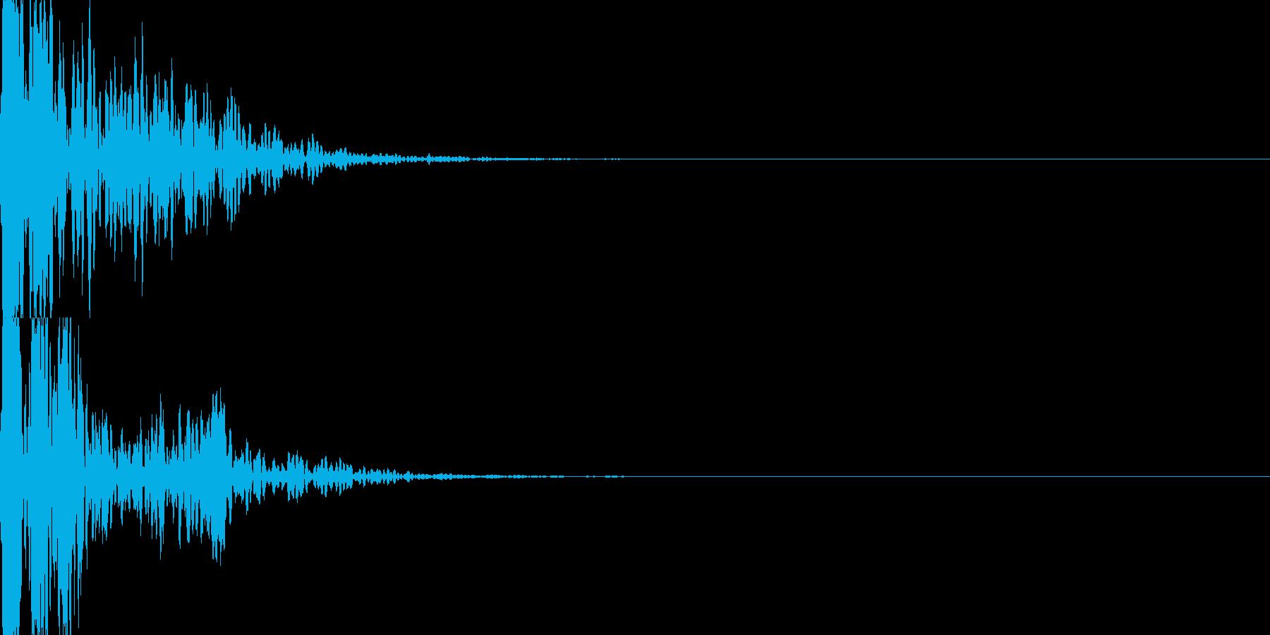インパクト抜群のポコッツ!!スタンプ音の再生済みの波形