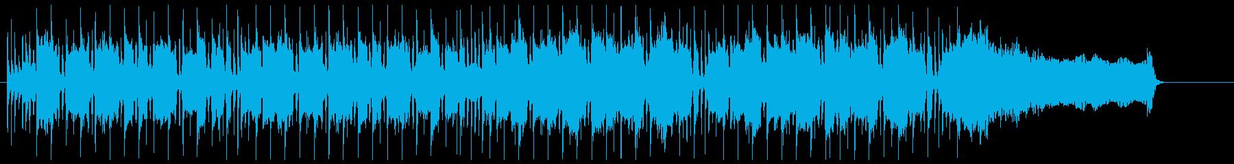 ハードロックとブラスの勇ましいBGMの再生済みの波形