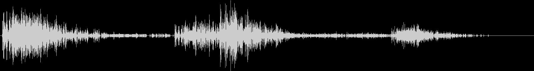 Noise デジタルノイズ 複雑な撃墜音の未再生の波形