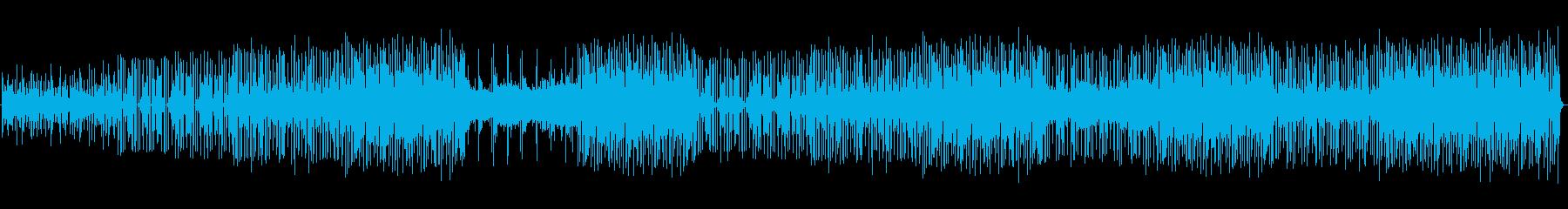 モダンなドラムループとシンセサイザ...の再生済みの波形