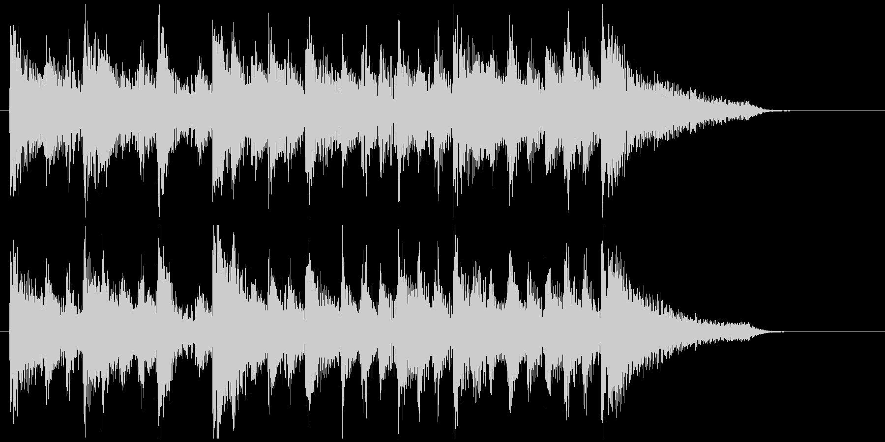滑らかなリズムの素敵なジングル、ウクレレの未再生の波形