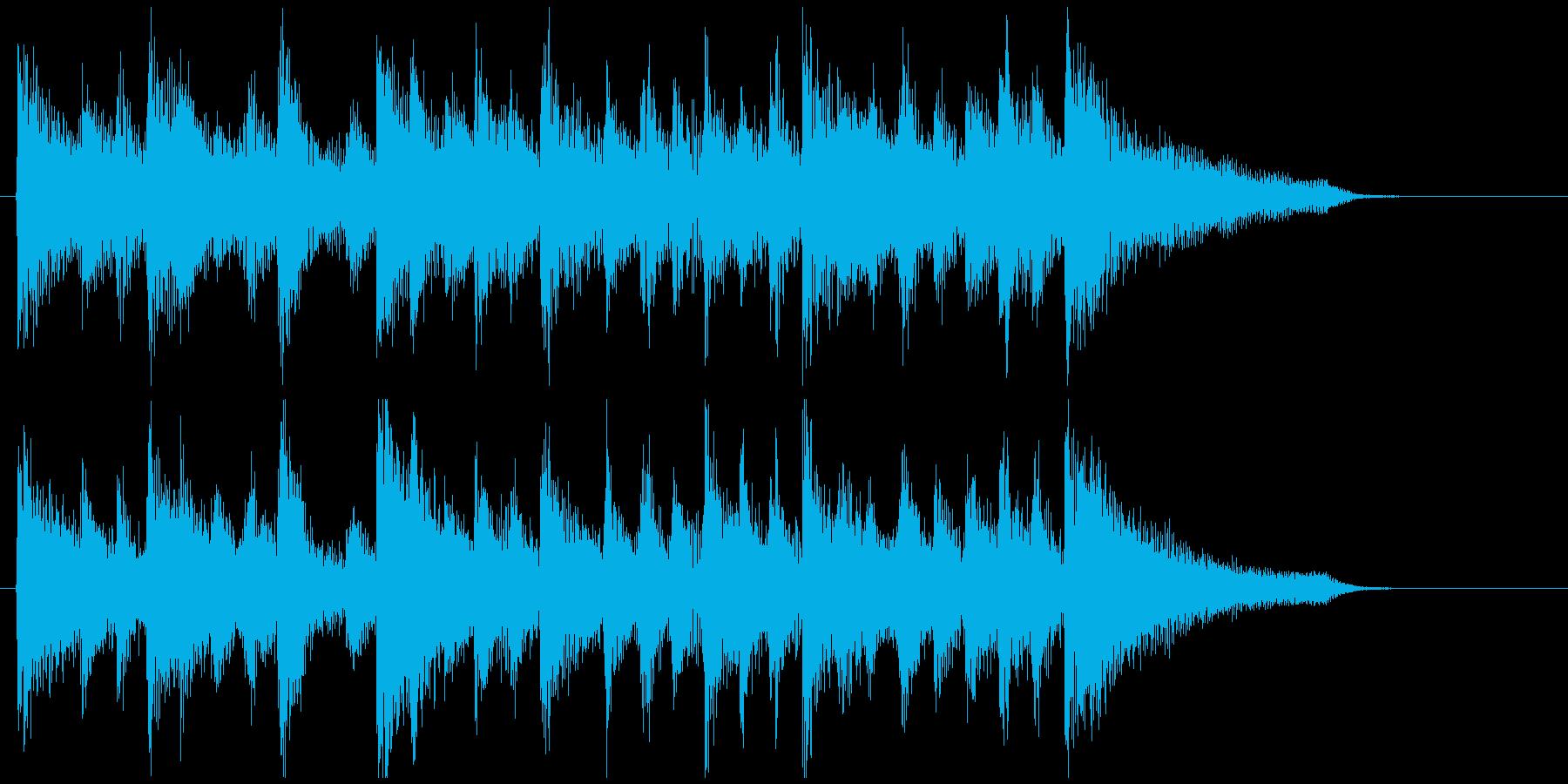 滑らかなリズムの素敵なジングル、ウクレレの再生済みの波形
