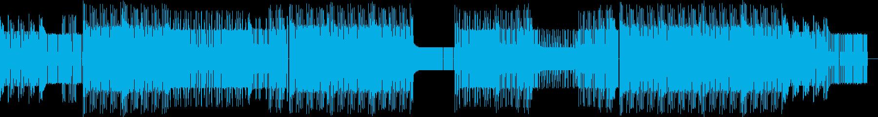 おしゃれなファミコン風チップチューンの再生済みの波形