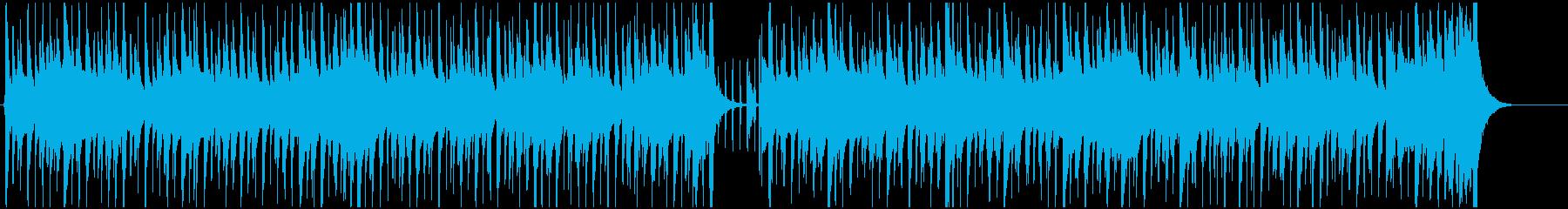 エレキギターが軽快なBGMの再生済みの波形